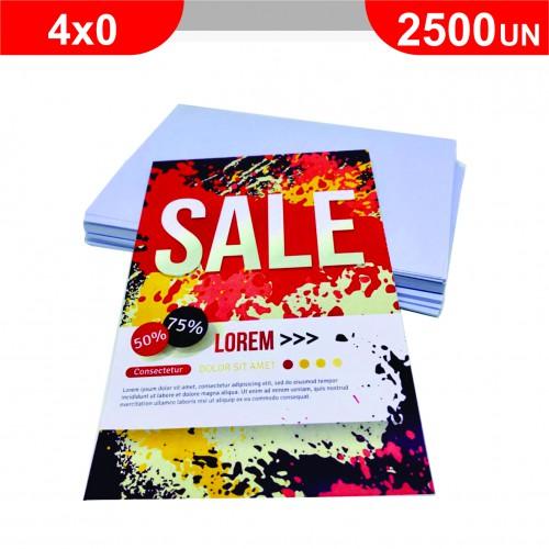 Folheto - 2500 unidades