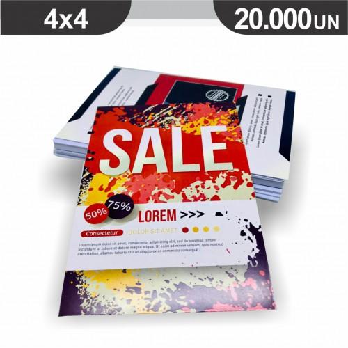 Folheto - 20000 unidades