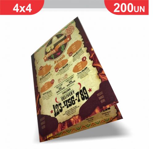 Cardápio - 1 vinco - 200 unidades